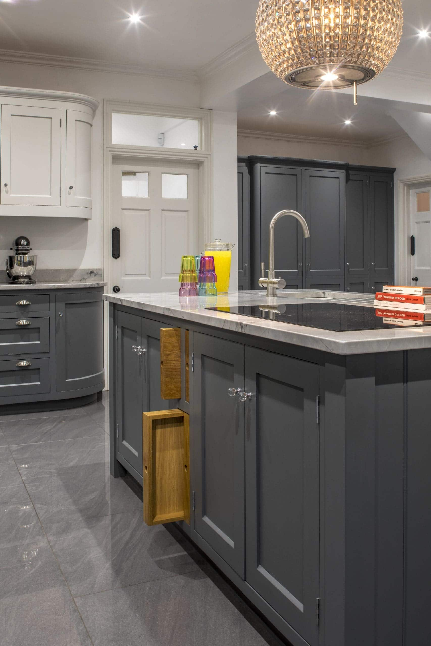 A beautiful, bespoke kitchen with integrated chopping boards