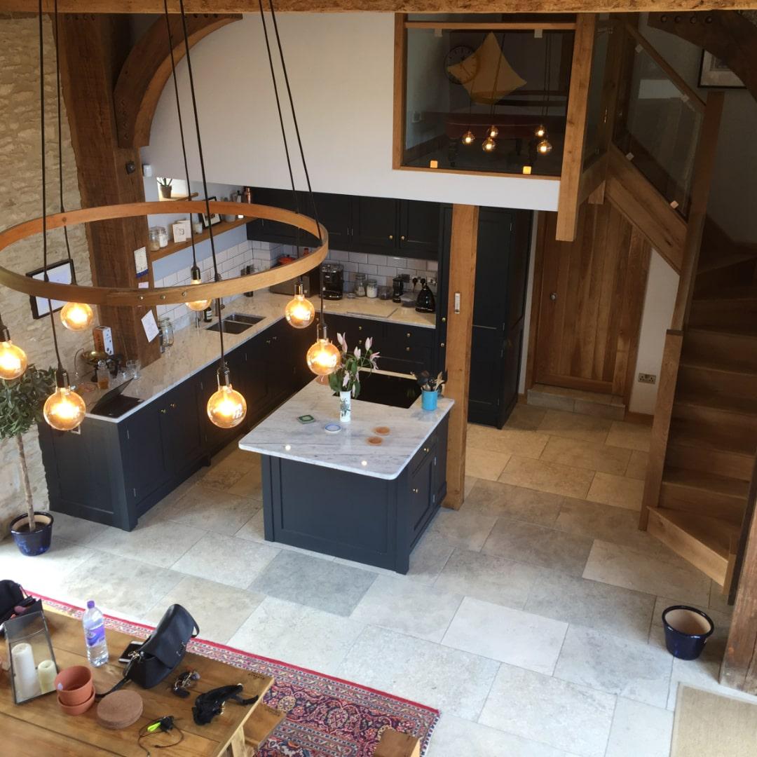 A beautiful, bespoke kitchen in a newly renovated barn converison.