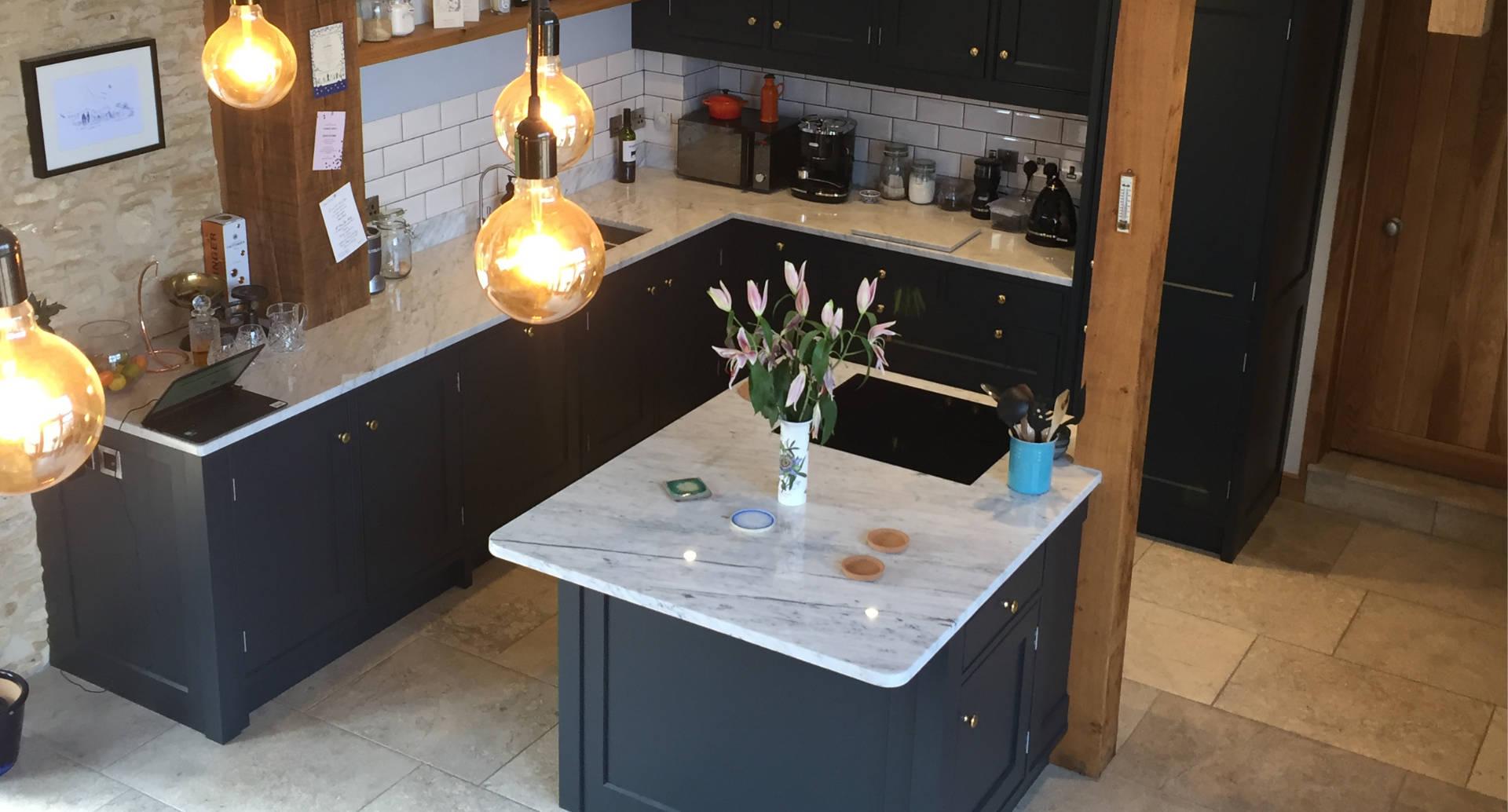 A beautiful bespoke kitchen in a barn conversion