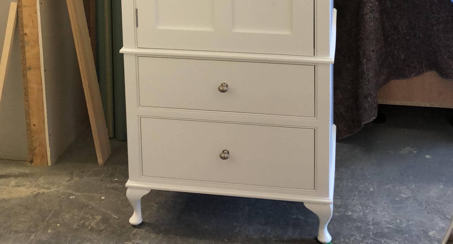 A bespoke freestanding wardrobe