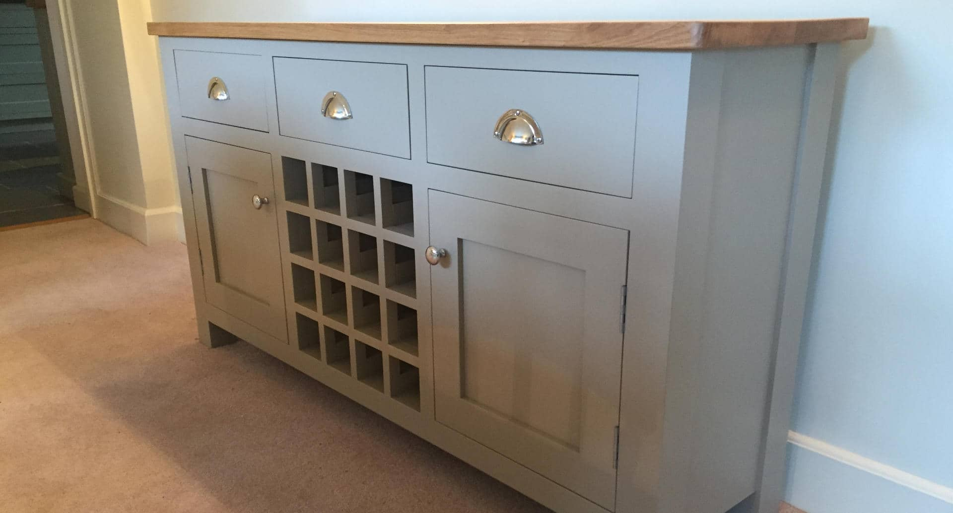 A beautiful sideboard which has been custom made.