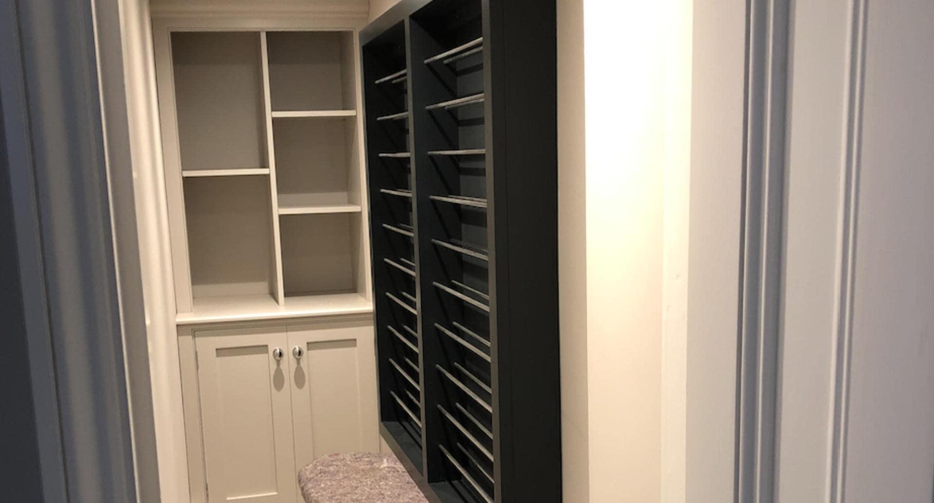 A bespoke wine rack