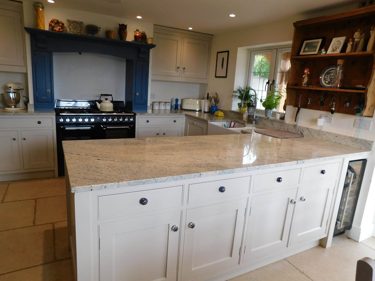 A full view of a bespoke fitted kitchen